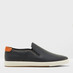 Aldo Olevano black leather slip on loafers 12